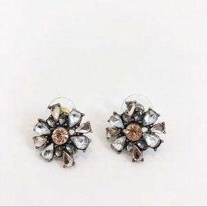 Bauble Bar Pink and Clear Rhinestone Earrings